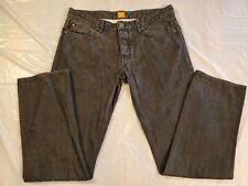 Hugo Boss Orange 25 Regular Fit Black Rigid Faded Jeans Men's 35x33