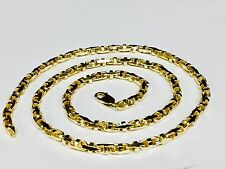 """10k Solid Yellow Gold Anchor Mariner Bullet Link Chain Necklace 4MM 35 grams 20"""""""