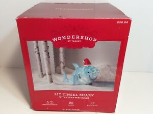 NEW Wondershop Target Lit Tinsel Shark with Clear Mini Bulbs Baby Shark NIB
