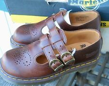 NEW DR MARTENS TAN ANALINE TWIN STRAP MARY JANE'S MADE IN ENGLAND SIZE US 5 UK-3