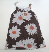 GIRLS BABY GAP BROWN & ORANGE SUNFLOWER SUNDRESS DRESS SIZE 12-18 MONTHS
