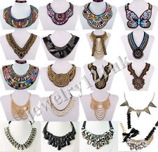 Fashion Ethnic Style Jewelry Pendant Crystal Choker Statement Necklace Collar