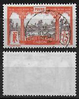 GABON - Col Française - Oblitéré - 45 - M.C/165.eu - TB/USED - RARE. 6.000.ex