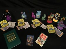 Wendy's 1998 Kids Meal QUEST FOR CAMELOT Toys Lot of 6 & Button