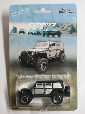 Fast Furious 7 Tej Jeep Wrangler Unlimited Superlift Off Road Hot Wheels Custom