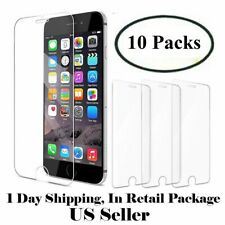 10 Pcs Tempered Glass Screen Protectors For iPhone 6 7 8 plus 11 Pro X Xr Xs max