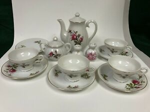 Moss rose Vintage China Tea Set