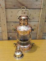 Brass & Copper Anchor Oil Lamp Nautical Ship Lantern Boat Lamp