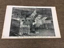 1882 originale architetti Stampa-Pianoforte a Coda e musica sedile di L. Alma-Tadema Esq