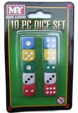 10 piece dice (die) set for games - 5 different colours