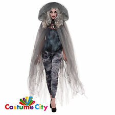Amscan Zombie Ghostly Grey Cape Halloween Costume Womens Adult Fancy Dress