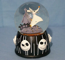 Nightmare Before Christmas ZERO the DOG Musical Water Snow Globe MUSICBOX RARE