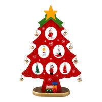 DIY Wooden Christmas Ornaments Table Desk Decoration Festival Party Xmas Tree