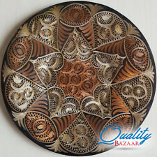 Antique Handmade Round Authentic Star Patterned Copper Wall Plate