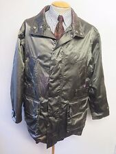 "Vintage BELSTAFF Nylon Raincoat Mac Coat M 40-42"" Euro 50-52 - Green"