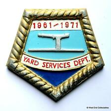 US Navy Yard Services Department 1961-71 - Ship Metal Tampion Plaque Badge Crest