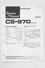 PIONEER CS-970 Original Haut-parleur Système manuel de Service/Manuelle/