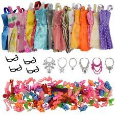Doll Clothes Accessories Fashions Dress Shoes Glasses Plastic Necklaces 30pcs