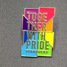 Starbucks London Pride Pin Badge 2018 LGBT Together with Pride Rainbow New Metal