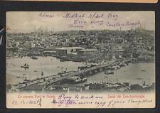 """Deutsche Post in der Tuerkei, Bildpostkarte 1902 """"Constantinopel - London"""" #l753"""
