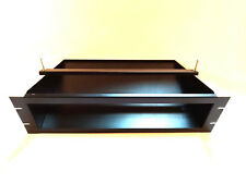 "3U Rackmount PC Shelf Tray 19"" Flight Case Clamping Bar Denon Pioneer CD Fascia"