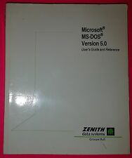 MICROSOFT MS-DOS – versione 5.0 – USER'S GUIDE and REFERENCE MANUAL