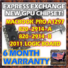 EXCHANGE MACBOOK PRO 17 A1297 820-2914-A & B 2011 LOGIC BOARD REPAIR NEW GPU