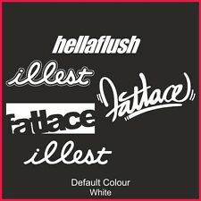 Illest Fatlace Hellaflush sticker pack 5 decals, JDM, VW DUB EURO, DRIFT, N2165