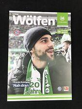 Programm VfL Wolfsburg - FC Bayern München 29.04.17 FCB Deutscher Meister