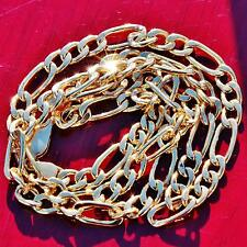 "10k yellow gold necklace 18.0"" Italian figaro link chain vintage 7.3gr"