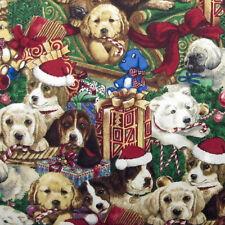 "ROBERT KAUFMAN ""DOGGY CHRISTMAS"" DOGGY CROWD Holiday by yard"