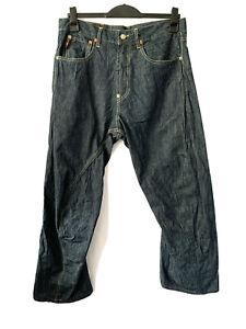 Michiko Koshino Jeans Engineered Twisted Dark Indigo Japanese Denim 34 W 32 L