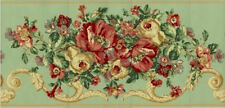 Large Scale Floral with Scroll Wallpaper Border 13.5 Inces Tall   GE2043B