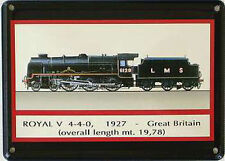 Mini-Blechschild Dampflok - Royal 1927, 11 x 8 cm