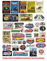 1:24 & 1:18 DRAG RACING DRAG STRIP POSTERS FOR  DIORAMA DIECAST DISPLAYS DECALS