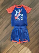 Boy's Nike outfit Cotton Tee Size Xs 4 & Shorts Size Small 5