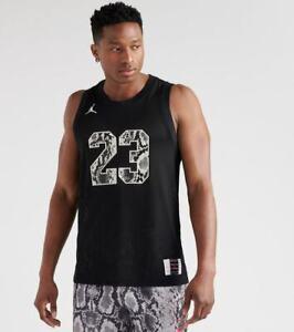 Nike Jumpman Air Jordan Retro 11 Snakeskin Men's Black Jersey  Size Small