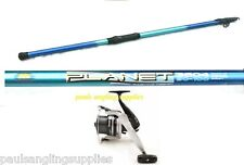 10,12ft or 14ft Telescopic Planet Travel Beachcaster Beach Fishing Rod SX Reel