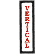 CUSTOM EMBROIDERED MOTORCYCLE VERTICAL  NAME PATCH