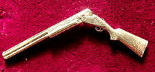 Pewter Hunting Broken Shotgun Brooch Pin : Signed