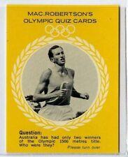 (Gm321-100) RARE, MacRobertsons, Herb Elliott, Olympic Quiz 1964 EX