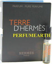 TERRE D' HERMES VIAL MINI 2 ML PURE PARFUM SPRAY FOR MEN BY HERMES