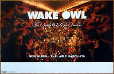 WAKE OWL Private World of Paradise Ltd Ed RARE Poster+FREE Indie Folk Pop Poster