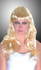 Sexy-Parrucca bionda lunga dritta per travestimenti e spettacolo.