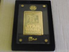 1X 1996 STAR WARS Trilogy 24K GOLD Authentic Images Ltd Edition Special NIB