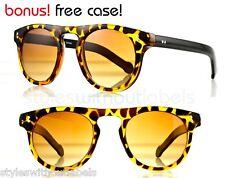 50s Vintage Spectacles Round Hippie Sunglasses Tortoise