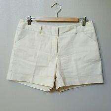 COURTENAY Woman Cream Casual Shorts Size 10P PETITE Lightwear SUMMER