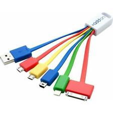 AddOn 3in USB 2.0 (A) Male to 30-Pin, Lightning, Micro-USB and Mini-USB 2.0 (B)