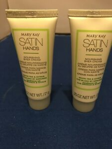 STOCKING STUFFERS / TRAVEL SIZE MARY KAY SATIN HANDS White Tea/Citrus Set Of 2