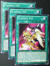 Set 3X SCAMBIO XYZ   LVAL-IT051 Magia Comune in Italiano YUGIOH